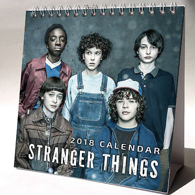 Stranger Things Desktop Calendar 2018 NEW + FREE GIFT 3 Stickers Elevan TV Show