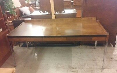 vintage 60's Mid Century Modern desk in the style of Harvey Probber