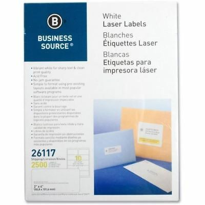 Business Source Mailing Laser Label 26117
