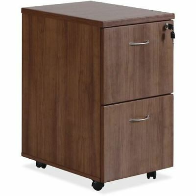 Lorell Essentials Walnut F/F Mobile Pedestal 69984