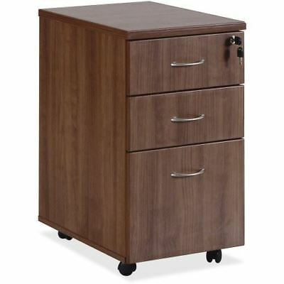 Lorell Essentials Walnut Freestanding Mobile Pedestal 69983