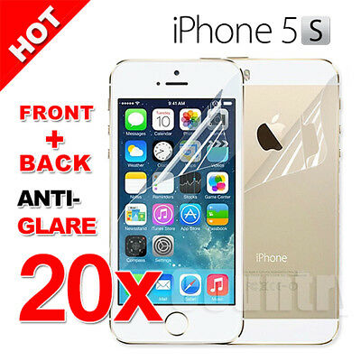 20x Anti-Glare Film Guard For Apple iphone 5 5S Screen Protector Front and Back