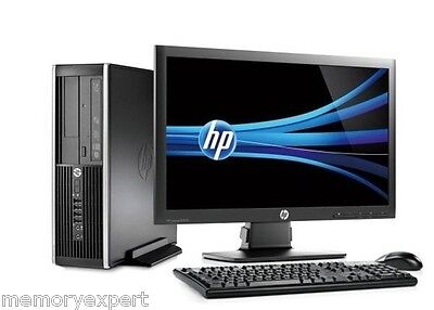 "HP DESKTOP TOWER PC i5 Sec Gen Quad Cpu 1TB NEW HD 8 GB DDR3 WINDOWS 10 19"" TFT"