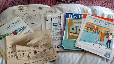 Lot of 24 vintage 1960's Maytag advertising, instructions, manuals industry