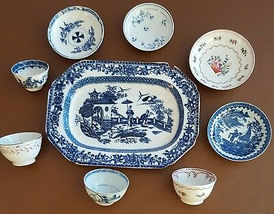A mixed group 18th c English and Chinese Porcelain