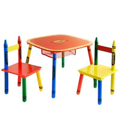 New arts and crafts activitites Great Fun Crayola Kids Table & Chairs 3pc