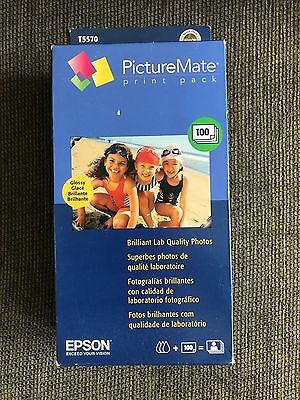 Epson T5570 Picturemate Print Pack Cartridge and 100 Sheet Glossy paper