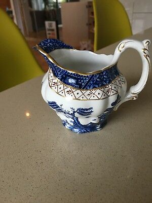 Booths Real Old Willow Pattern Milk Jug A8025 Blue & White