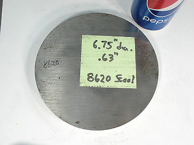 "1/2"" Round Circle HR Steel Disc, 5.5'' Dia., ..51"" thick Cutoff Surplus"