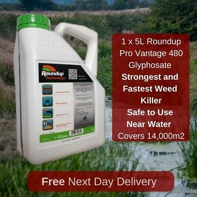 5L Roundup Pro Vantage 480 Strongest Weed Killer Available On The Market New