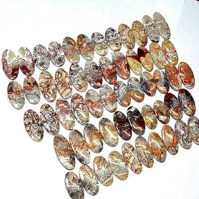 250 Cts 100% NATURAL CRAZY LACE AGATE WONDERFUL PAIR LOT