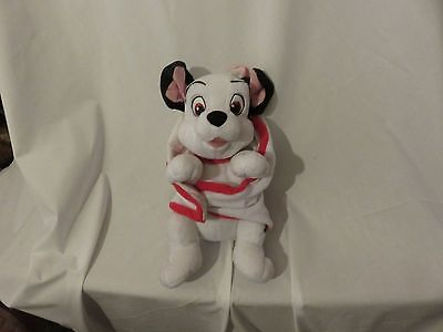 """13"""" cute soft baby puppy dalmatian from 101 dalmatians with blanket plush doll"""