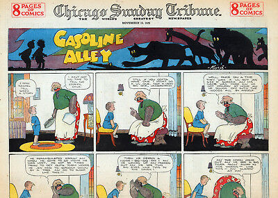 33 1920's/Early 30's GASOLINE ALLEY W/ 6 FANTASY PAGES &  29 REGULAR FELLER'S, E