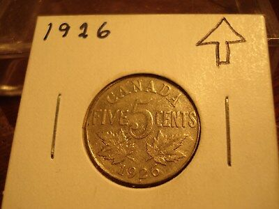 1926 - Canada nickel - High Grade - Canadian 5 cent coin