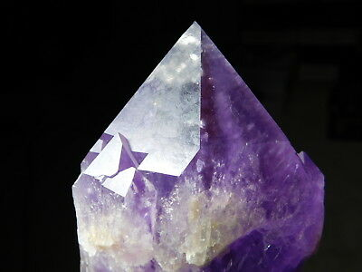 A Big 100% Natural Deep Purple Amethyst Crystal Point From Bolivia! 1200gr e
