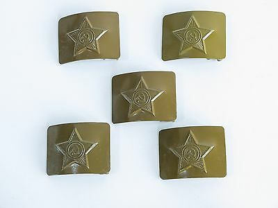 USSR Army Soldier Belt Buckle Green