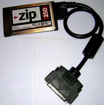 IOMEGA ZIP 250 Card & Cable i.e. PCMCIA to ZIP 250 USBPCM ADAPTER - WORKING