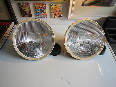 Cibie genuine Super BiOscar H4 lens reflectors NOS/NIB (pair) including H4 bulbs