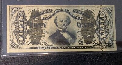 1863 50C Fifty Cent Fractional Currency  Choice AU+