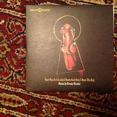 """Bruno Nicolai Your Vice Is A Locked Room Finders Keepers Vinyl 7"""" Record"""