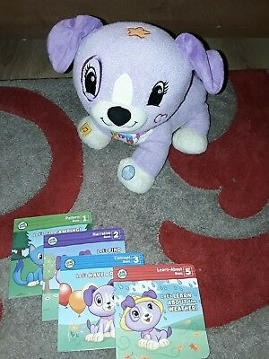LeapFrog Read With Me Violet Soft Toy Puppy Dog Learn With Setof 4 Books- 2-5Yrs