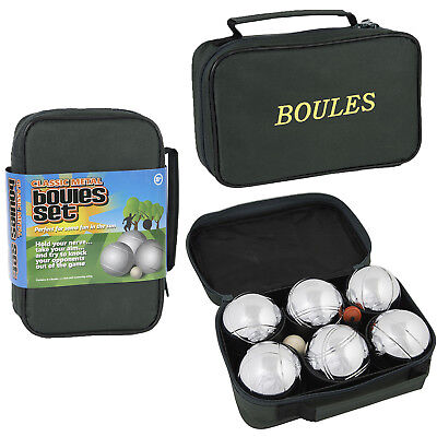 Classic Metal Boules Set Of Six Outdoor Children Family Fun Garden Game
