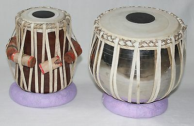 Asian Sound Tabla Set Baya 2,1 kg Daya 3,6 kg Martello Cuscino Anelli LernDVD