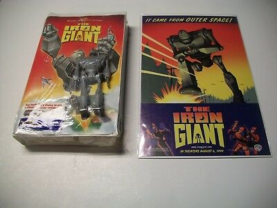 The Iron Giant VHS With Jointed Figure And The Iron Giant Promo Teaser Comic
