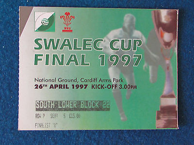 Welsh Rugby Union Challenge Cup Final Ticket - 26/4/97 - Cardiff v Swansea