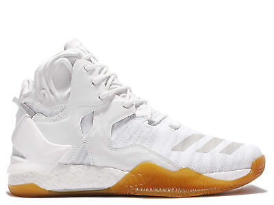 40d95897ad6 NEW adidas D Rose 7 Primeknit Mens Basketball Shoes White Gum sizes 10.5  11.5