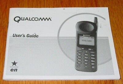 Qualcomm QCP 860 / QCP 1960 / QCP 2760 User Guide for Cell Phone