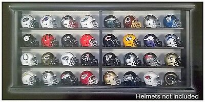 NFL American Football Riddell Pocket Pro Helmet Wooden Display Cabinet Case