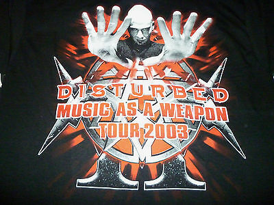 Disturbed / Music As A Weapon Shirt ( Size L ) NEW!!!