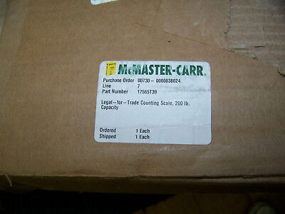 """McMaster-Carr Legal-for-Trade Counting Scale 200 lb. Capacity 14"""" X 12"""" 17565T39"""