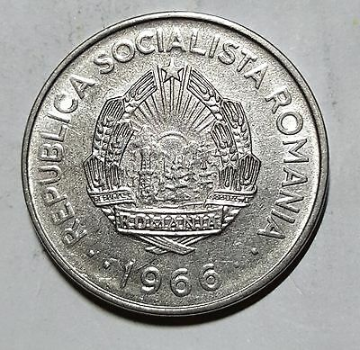 1966 1 Leu Romania Coin