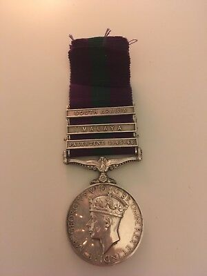 General Service Medal To REME With Three Bars