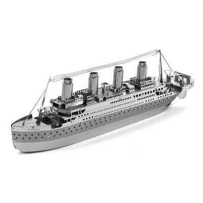 Educational DIY Assembly Toy 3D Metal Puzzle Model Kit Titanic Ship