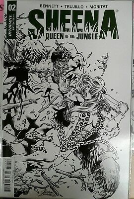 Sheena Queen of The Jungle #2 Incentive Cover Black and White
