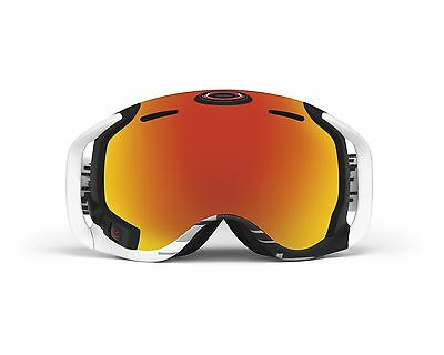 OAKLEY AIRWAVE 1.5 Fire Iridium/Black & White Snow Goggles V2-SG BRAND NEW
