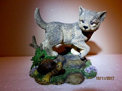 """Hamilton Collection Wolf Pups Michael Adams Early Discoveries """"Strolling Along"""""""