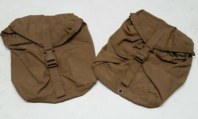(2) USMC FILBE Sustainment Pouch Coyote Brown Eagle Industries MOLLE Used