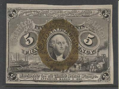 USA 1863, 2nd Issue 5c Fractional Currency Note
