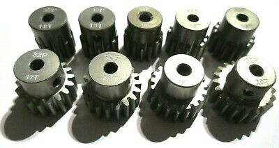 32P pitch 3mm Pinion Gears 9t tooth to 20t fits Brushless motor