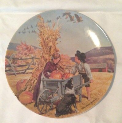 """Vintage 1979 Edwin M. Knowles Limited Edition """"Thanksgiving"""" Plate"""