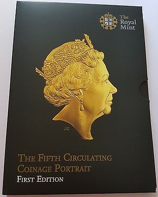 2015 Royal Mint Fifth Portrait Brilliant Uncirculated coin Set. First Edition
