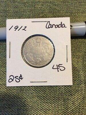 1912 Canada 25 Cents Lot 45