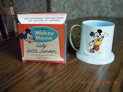 Mickey Mouse Baby Bottle Warmer - Toy - Game - Vintage - Disney