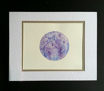 Halloween Decoration painted and Signed by a WITCH Full MOON WATERCOLOR