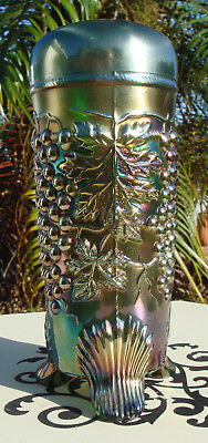 Northwood Carnival Glass Grape & Cable Hat Pin Holder