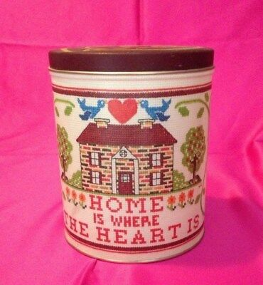 "Home Is Where The Heart Is ABC's Vintage Tin Collectible 6.5"" Can"